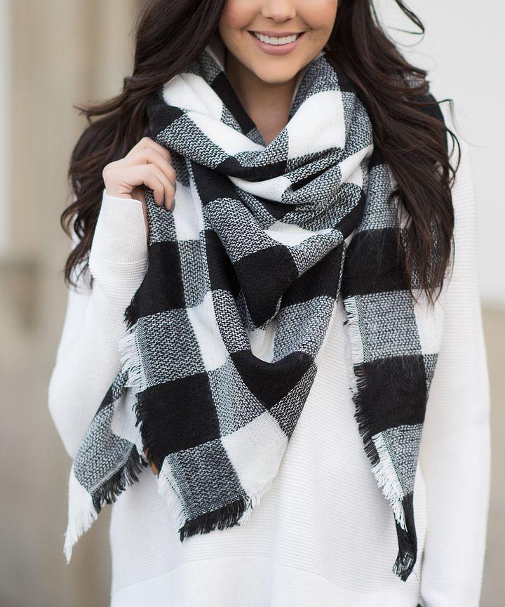 b876f6dbb46f1 Black & White Buffalo Check Blanket Scarf   New Management in 2019 ...