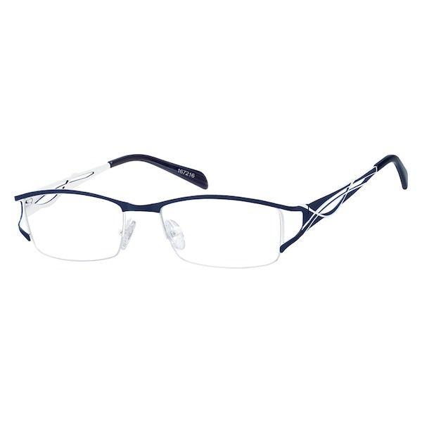 ad6eab2a215 Zenni Womens Rectangle Prescription Eyeglasses Half-Rim Bl ...
