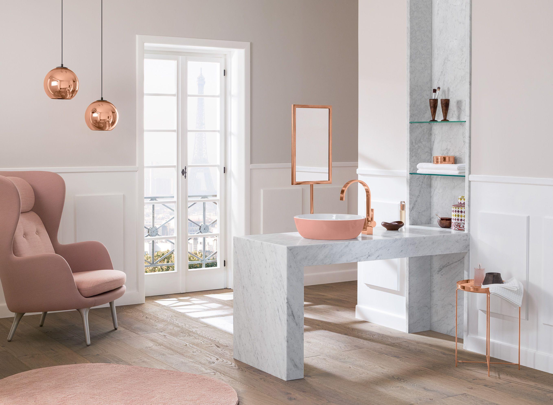 Kleur in de badkamer met villeroy & boch wastafel wastafels