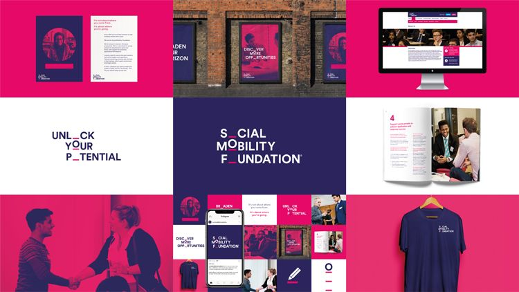 Careers Charity Social Mobility Foundation Gets A Moving Brand Identity Charity Branding Brand Identity Brand Identity Design