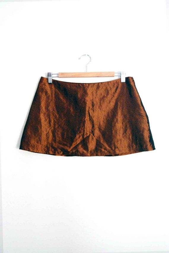af5a9aeaee0c5a Womens Fashion Bronze/ Copper Mini Skirt - Aline Micro mini Skirt Size S by  MixeDesigns,