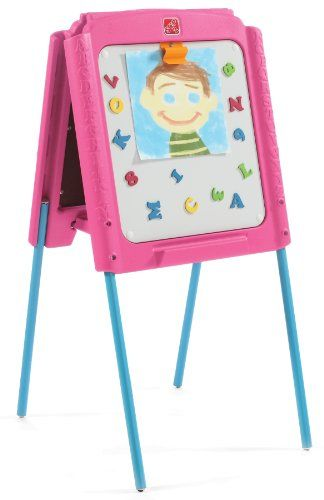 Step2 Girl S Sketch And Store Easel Pink Blue Delay Gifts