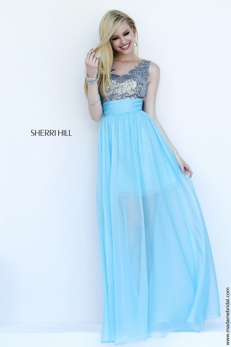 Fabulous beading accents the nude bodice of Sherri Hill 1945 prom ...