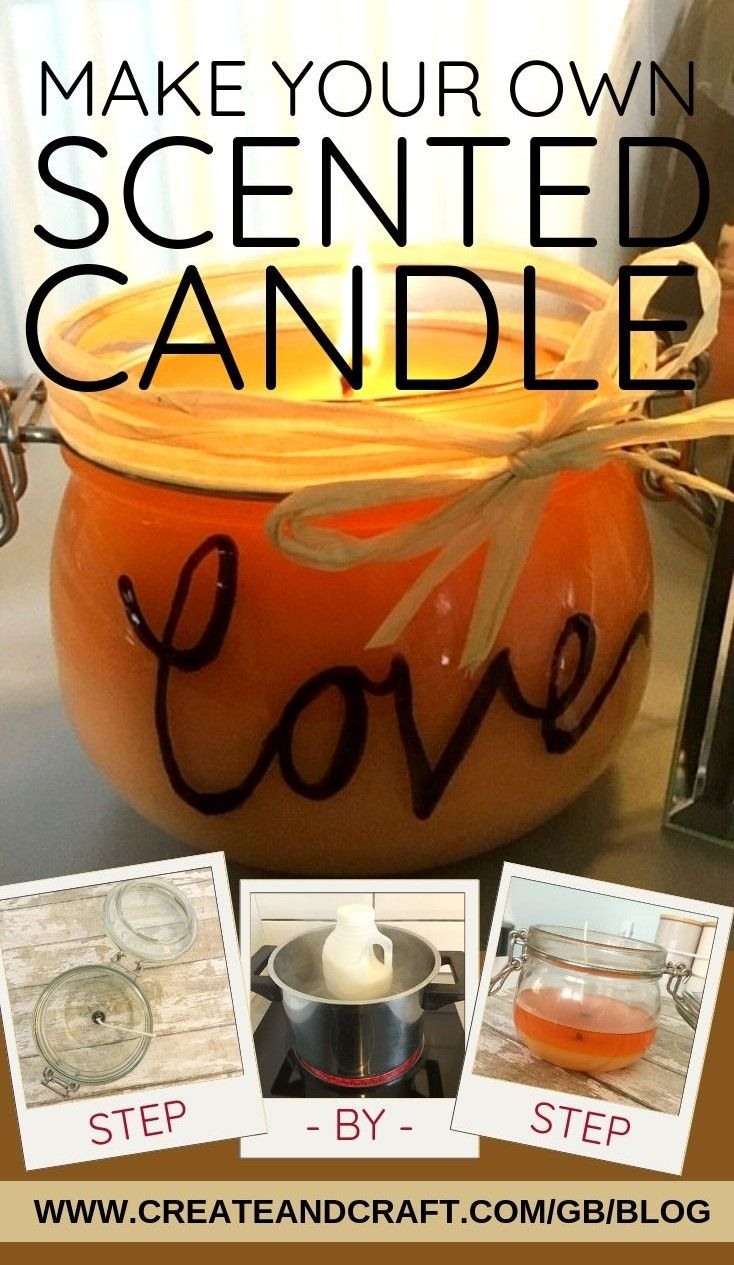 How to Make a Scented Candle at Home Diy candles scented