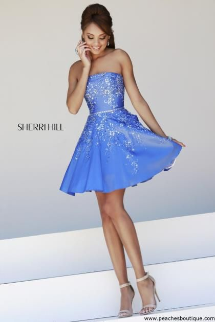 Sherri Hill Short Homecoming Dress 21362 at Peaches Boutique