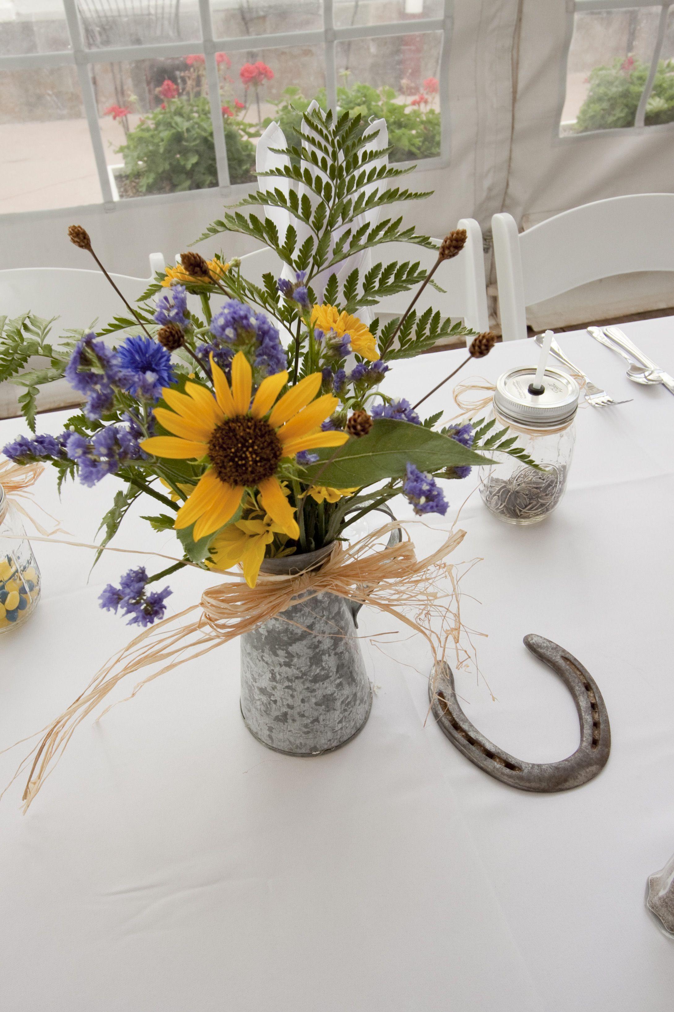 Country Western Wedding Arrangements | Western themed ...