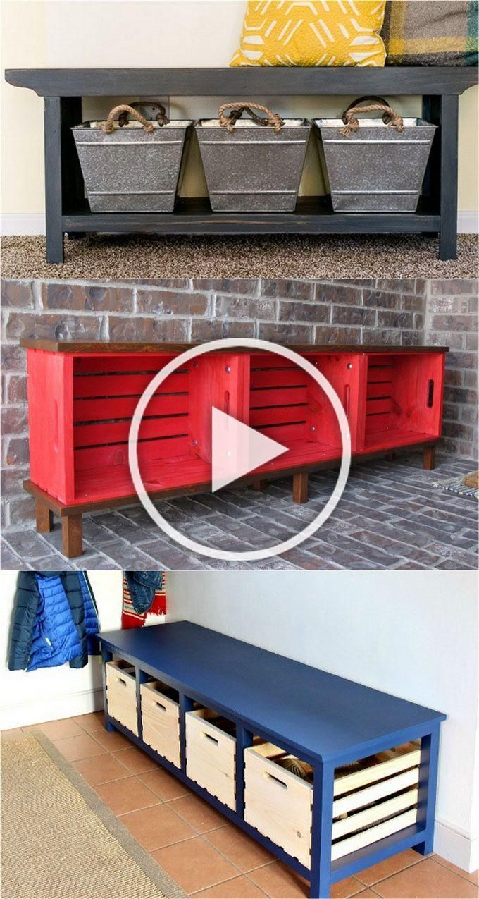 21 beautiful DIY benches for every room Great tutorials on how to build benches easily out of 2x4s concrete blocks or even old headboards and dressers  A Piece of Rainbow...