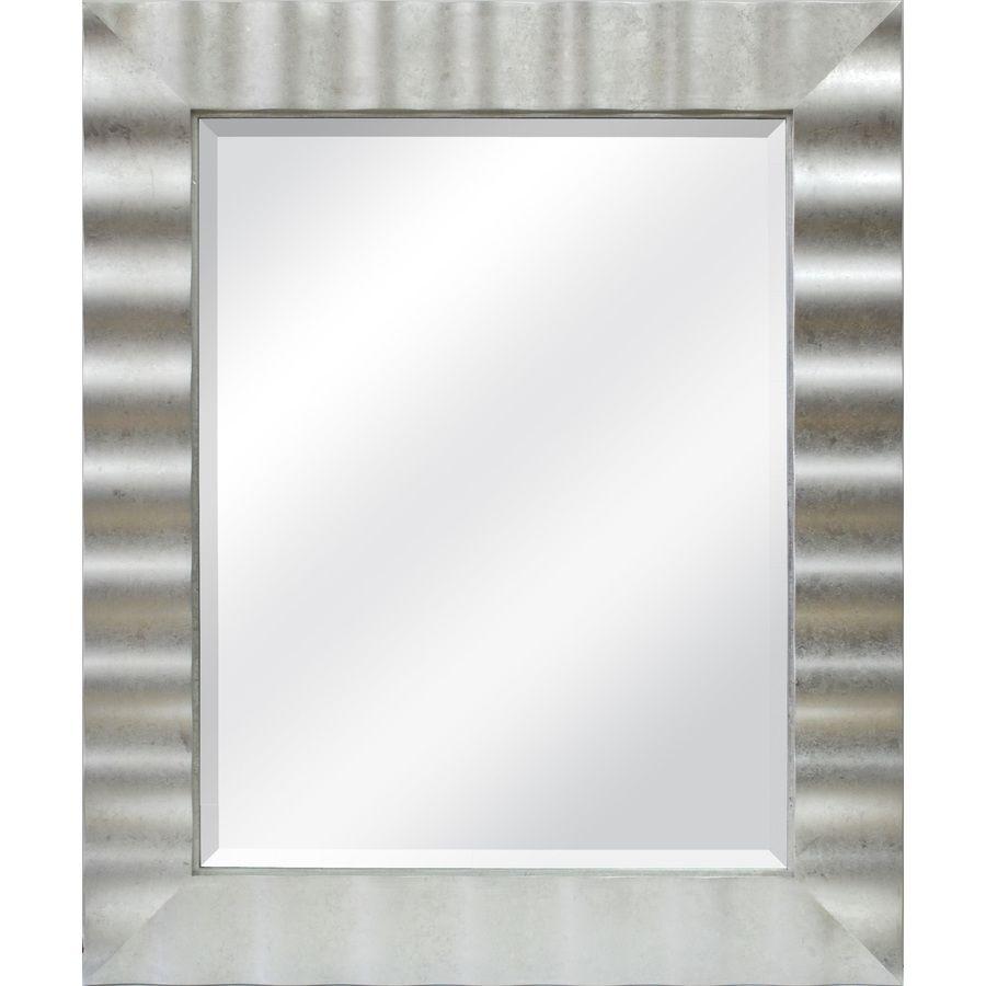 Allen Roth 36 In L X 30 In W Silver Leaf Beveled Wall Mirror Lowes Com Mirror Wall Framed Mirror Wall Frames On Wall