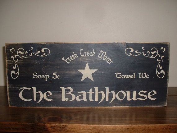 Found This On Etsy Love It Rustic Primitive Bathroom Signs