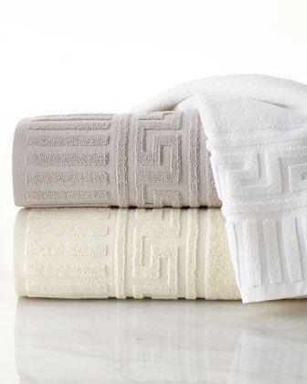 Greek Key Towels At Neiman Marcus