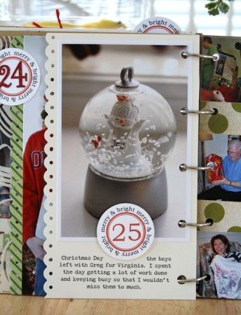 Free printable numbers for a Dec. Daily from Cocoa Daisy (who make the cutest kits BTW)