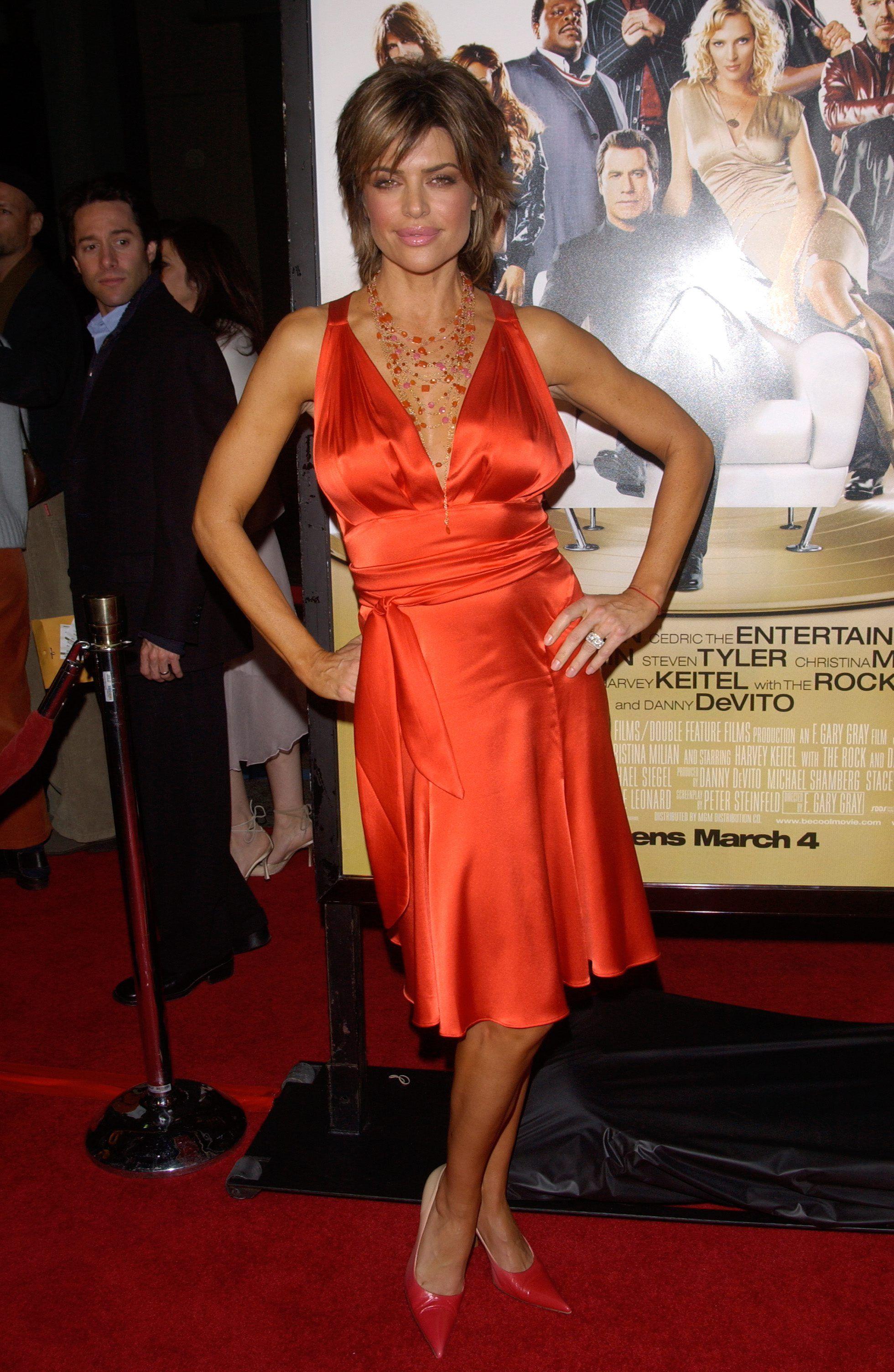 lisa rinna | red shoes - célébrités présentatrices chaussures rouges