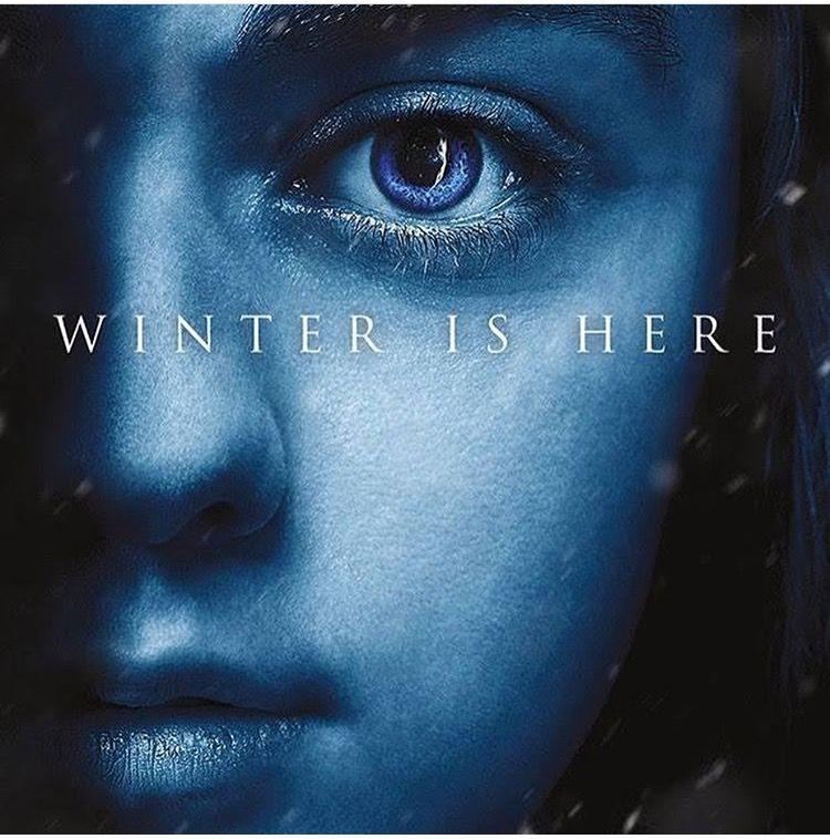 Season 7 Game Of Thrones Poster Winter Is Here Arya Stark