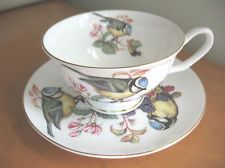 Stechcol Gracie Fine Bone China Tea Cup Teacup & Saucer - Blue Bird