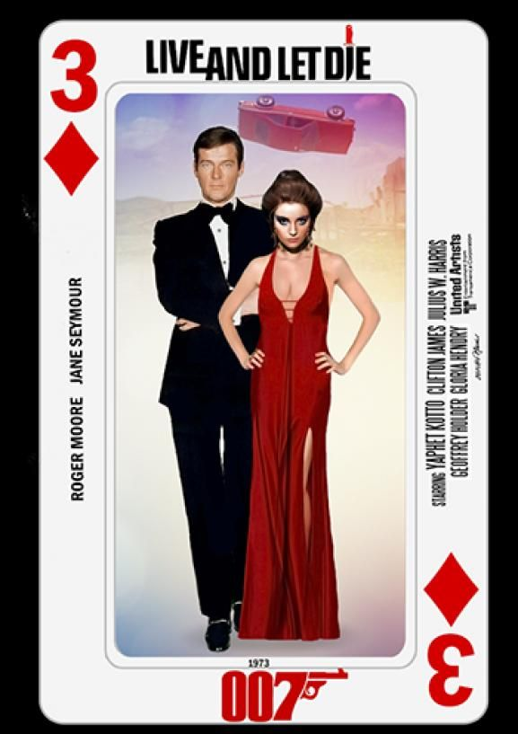 Photo of Bond Cards series collage by PMitchel #rogermoore #janeseymour #liveandletdie #0…