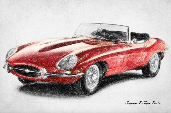 Jaguar E-type – Art Print