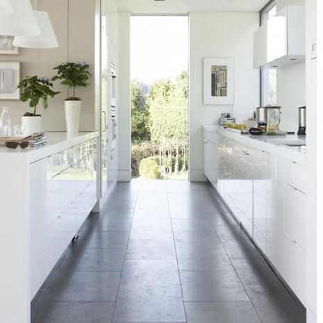 White Galley Kitchen Design small spaces : kitchens | the handmade home | small place - smart