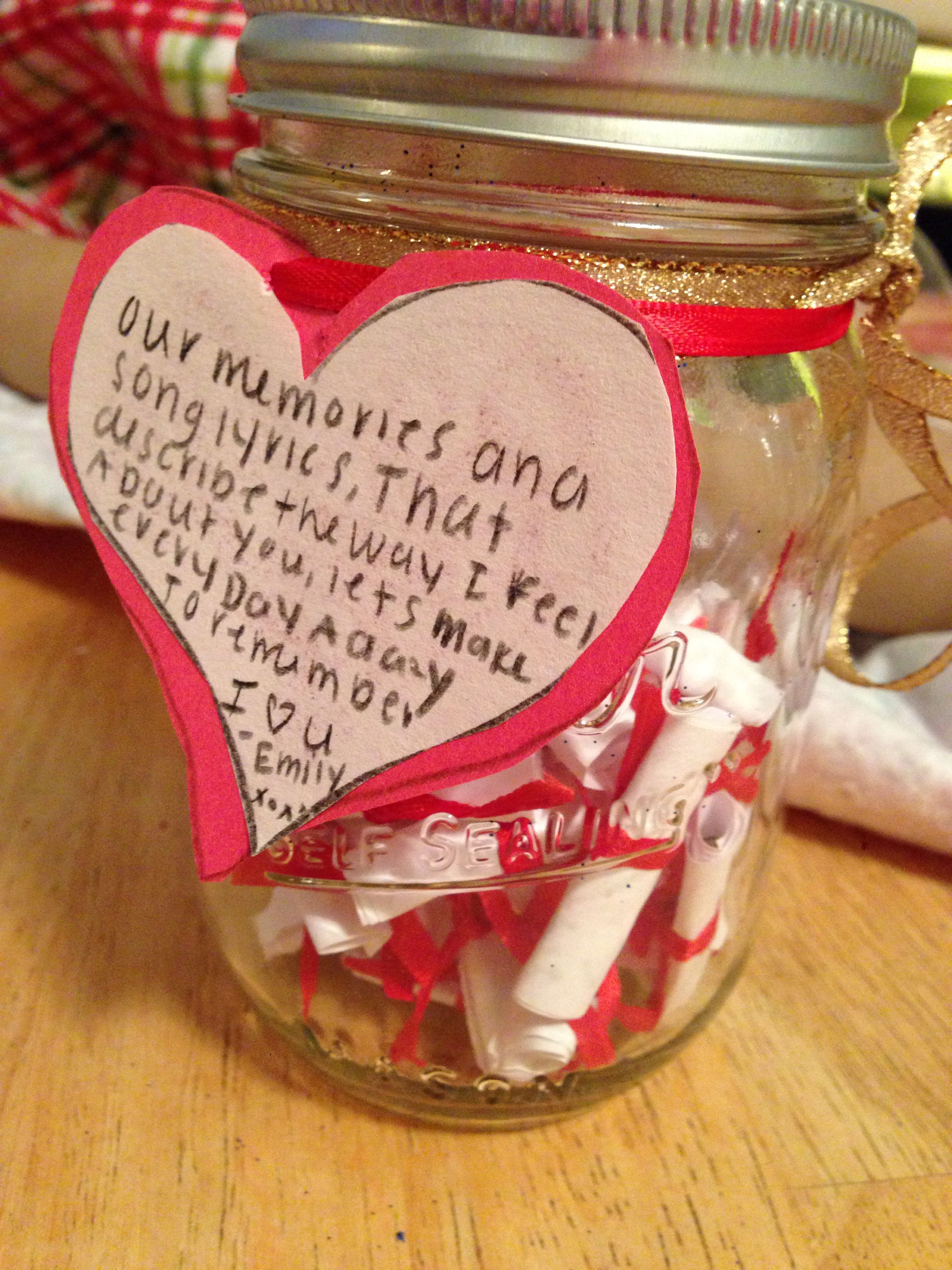 2 Year Anniversary Gift For Him Ideas Pinterest Jars Gifts