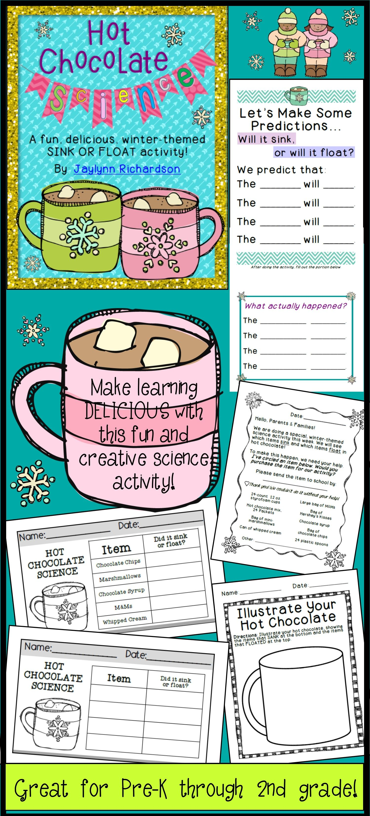 Hot Chocolate Science A Fun Delicious Sink Or Float Activity