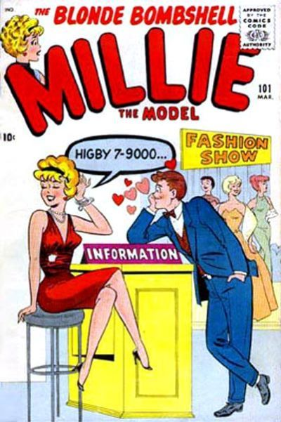 Millie The Model 101 Millie The Model Comic Book Girl Vintage Comic Books