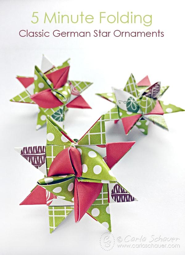 Make German Stars for Christmas | Paper christmas ...