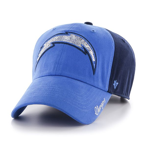 e45a8fc8f34 San Diego Chargers Sparkle Two Tone Clean Up Light Navy 47 Brand Womens Hat