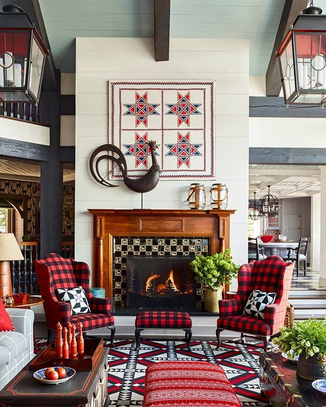go inside a home where plaids patterns and pretty quilts run wild rh pinterest cl