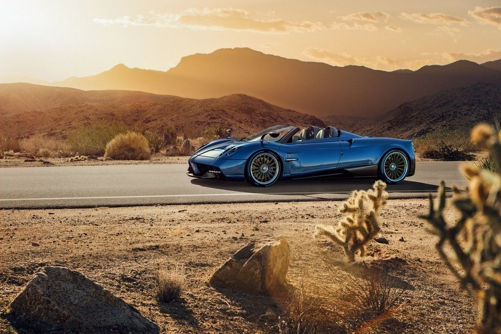 Pagani Huayra Sports Blue Car Wallpaper