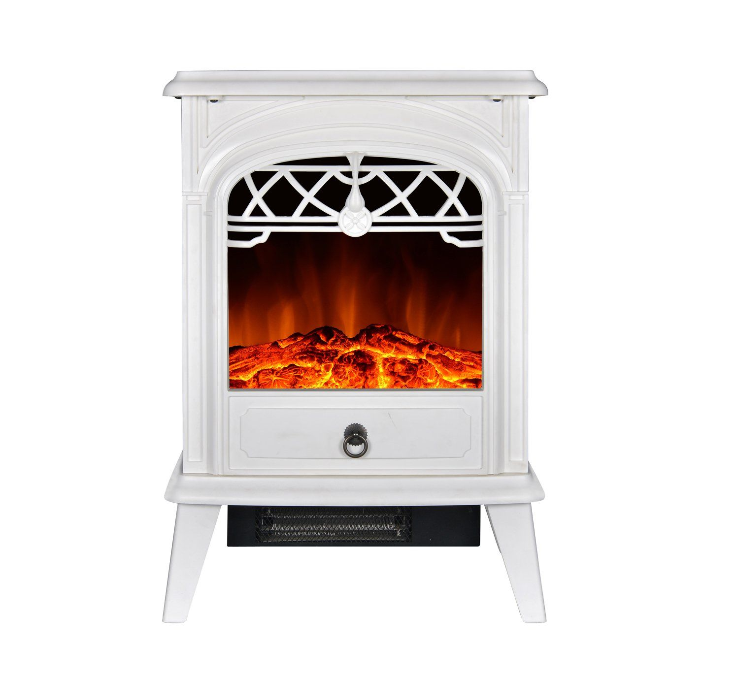 gmhome free standing electric fireplace portable electric heater log
