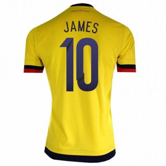 14b3b76634b Colombia national team 2015 Home Yellow Cuadrado  11 Jersey  A954 ...