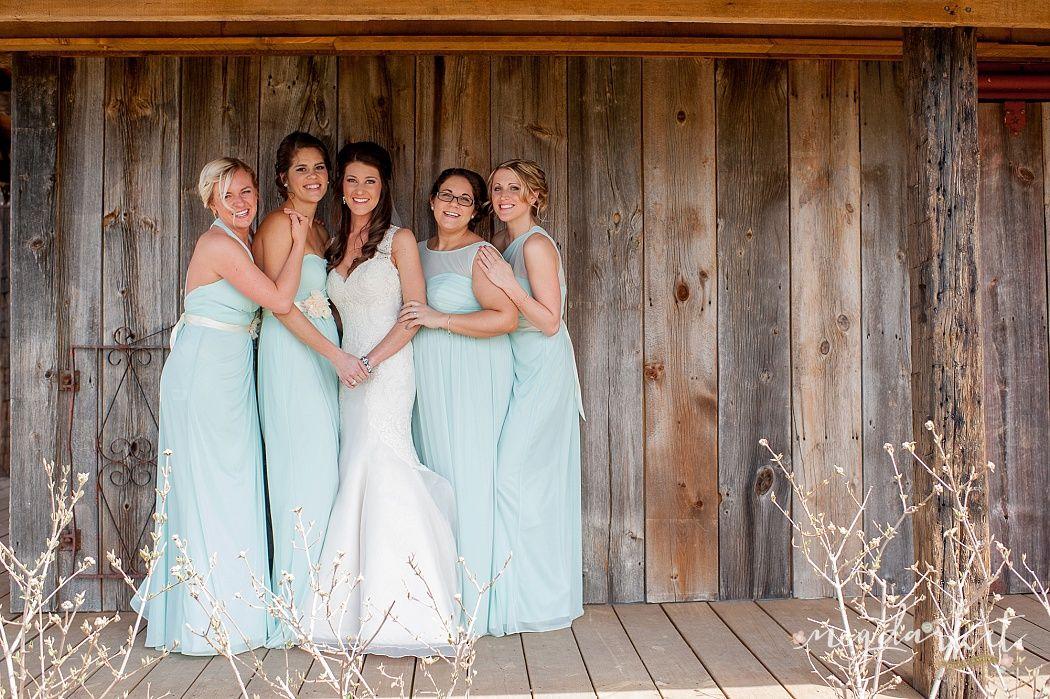 The Valley Bridesmaids Mint Bridesmaid Dresses Frutig Farms Ann Arbor Wedding Photographer