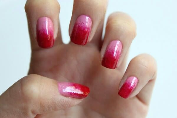 Pink To Red Ombre Ombre Nail Designs Ombre Nails Nail Art Ombre