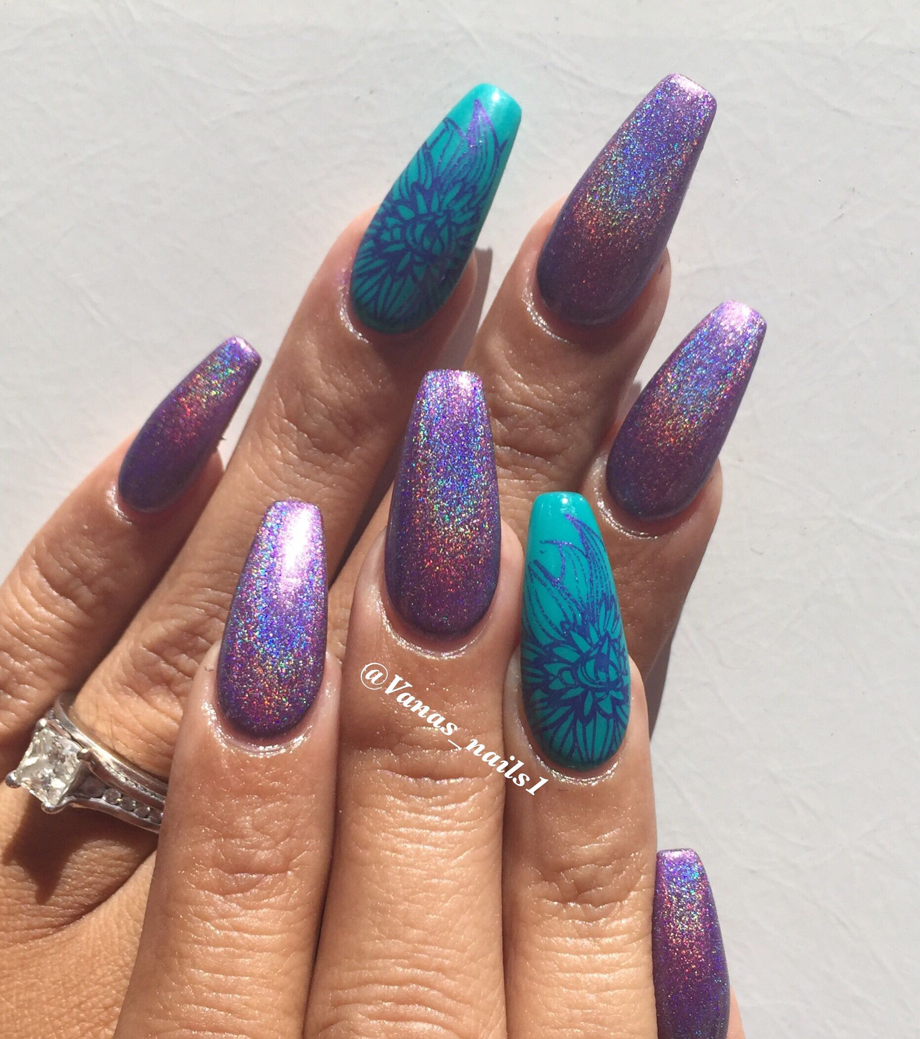 Coffin nail art design | Vana\'s nails | Pinterest