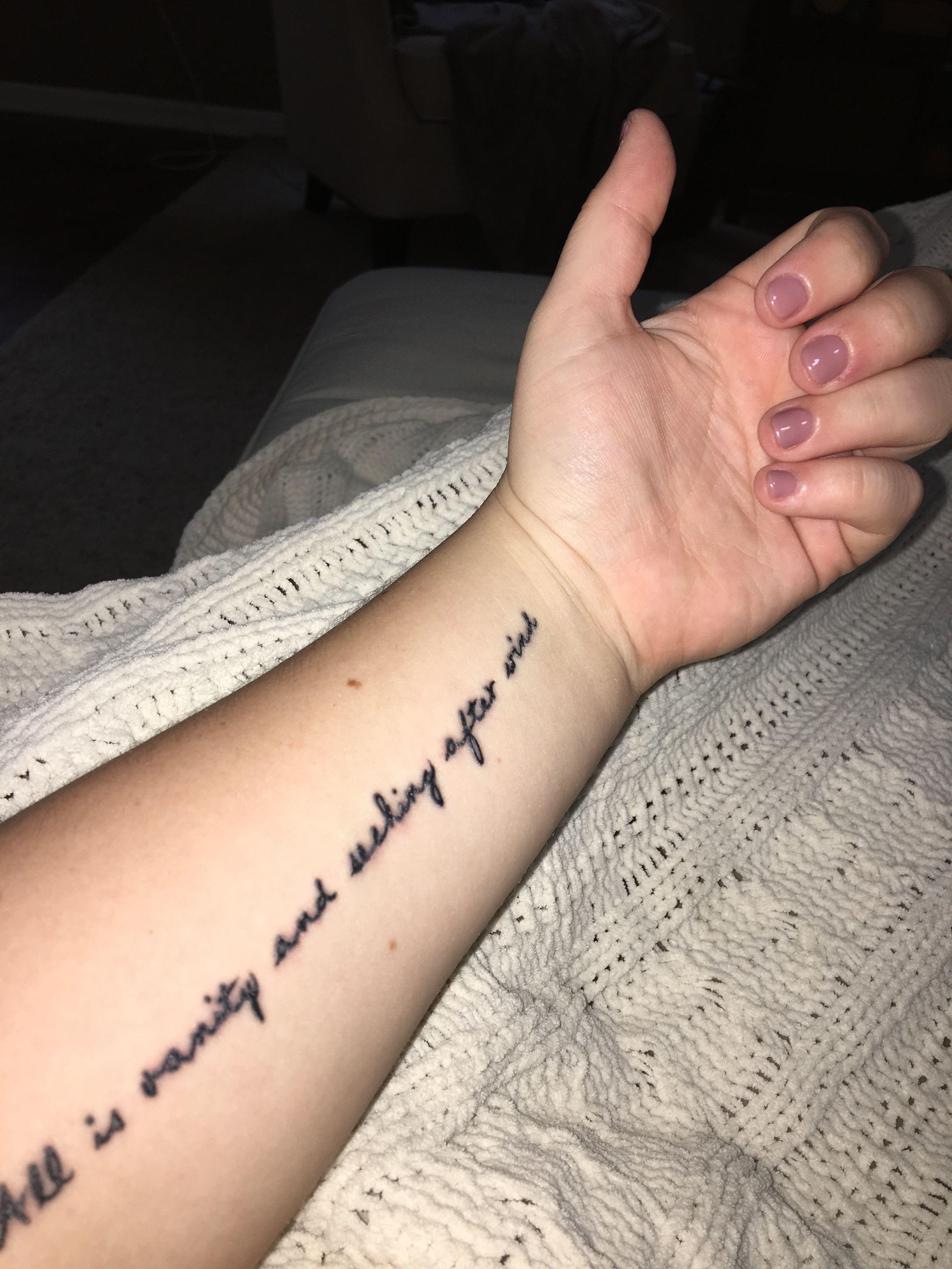 Ecclesiastes 114 Tattoo Ideas Biblical Tattoos Arm Wrist Christian Cursive
