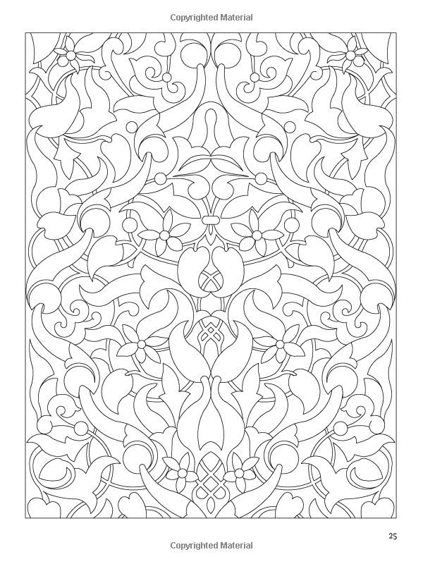 Arabic Floral Patterns Coloring Book Nick Crossling