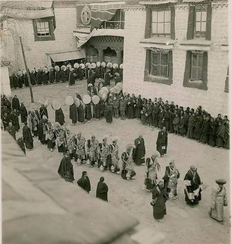 Jokhang Temple , Lhasa TIBET 1935