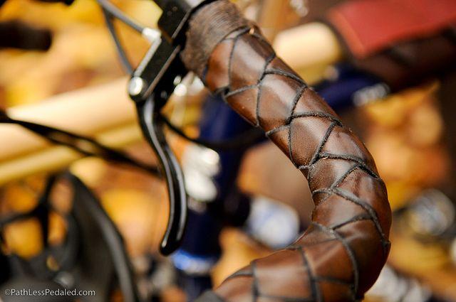 braided leather bar wraps via walnut studiolo