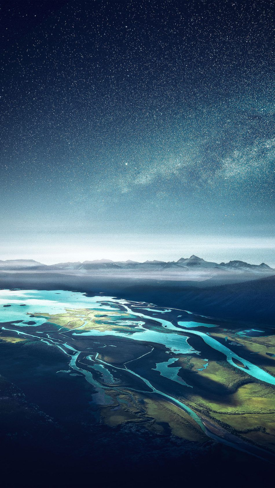 Mountain Range River Landscape Starry Sky 4k Ultra Hd Mobile Wallpaper Iphone Wallpaper Sky Hd Nature Wallpapers Nature Wallpaper