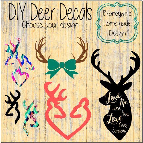 Download Deer Decals, Girl Deer Decals, Browning Deer, Love Me Like ...