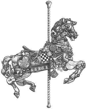 carousel zentangle inspiration horse