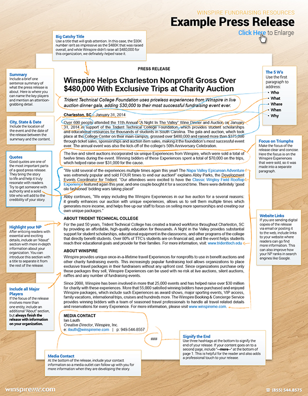 Learn What To Include In A Nonprofit Press Release To Pique The Interest Of Local Media Outlets An Writing A Press Release Press Release Template Press Release