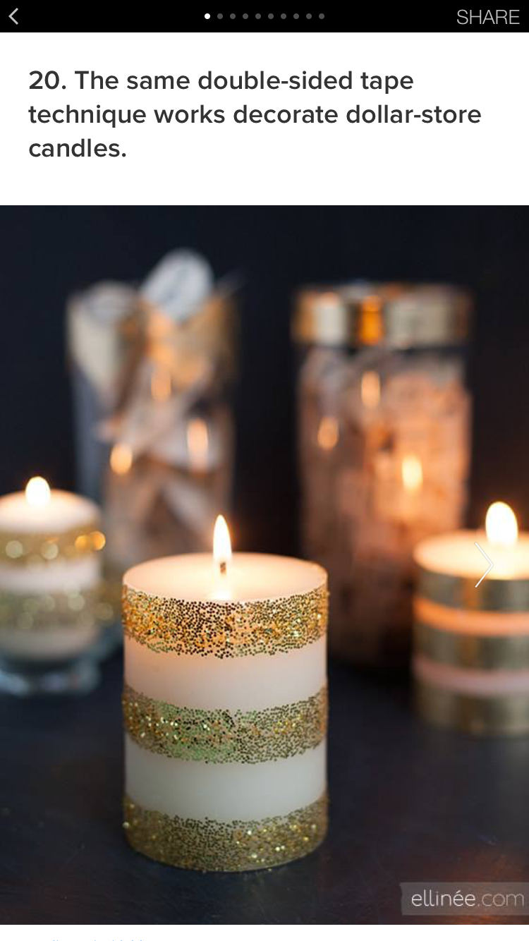 Pin By Erika Vigen On Diy Glitter Candles Diy Glitter Candles Candles