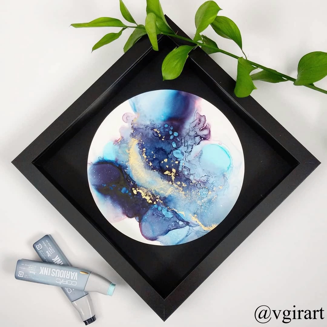 Alcohol Ink Video #alcoholinkcrafts