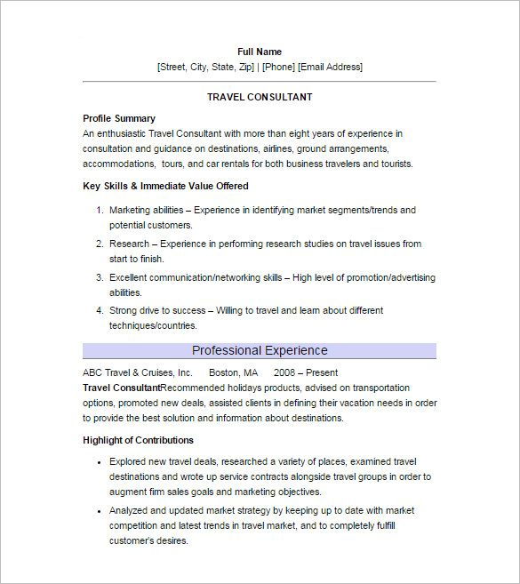 11+ Sample Consultant Resume Templates - Free Word, Excel, PDF - resume download free word format