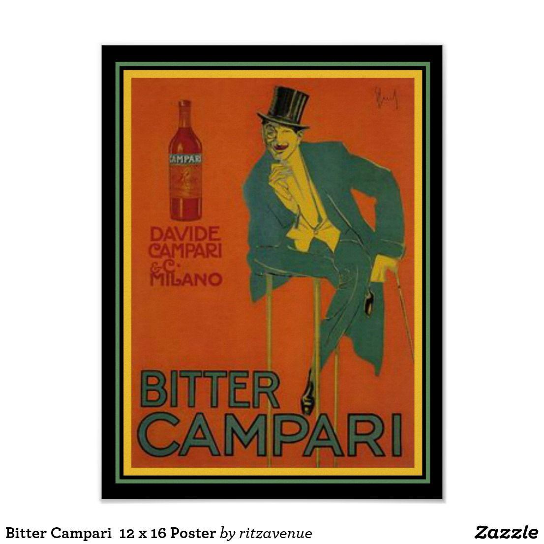 BITTER CAMPARI Bitter Campari Milano a poster internal house design