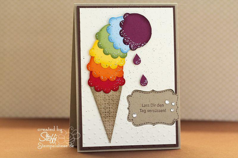 Einladung Zu Einem Eis | Karten basteln, Gutschein basteln