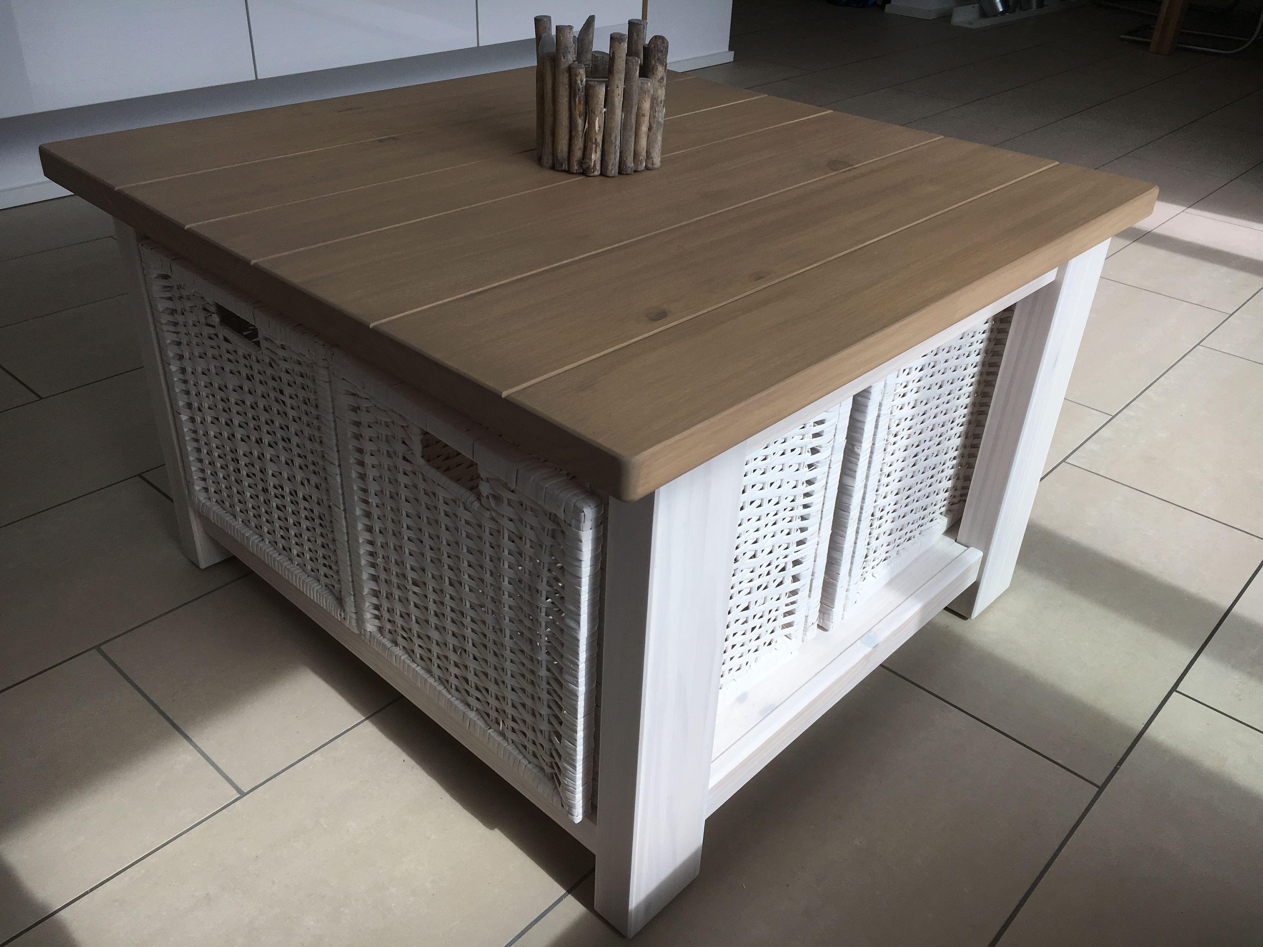 ikea hack diy rekarne couchtisch mit bran s k rben zuerst abgeschliffen k rnung 80 120 240. Black Bedroom Furniture Sets. Home Design Ideas