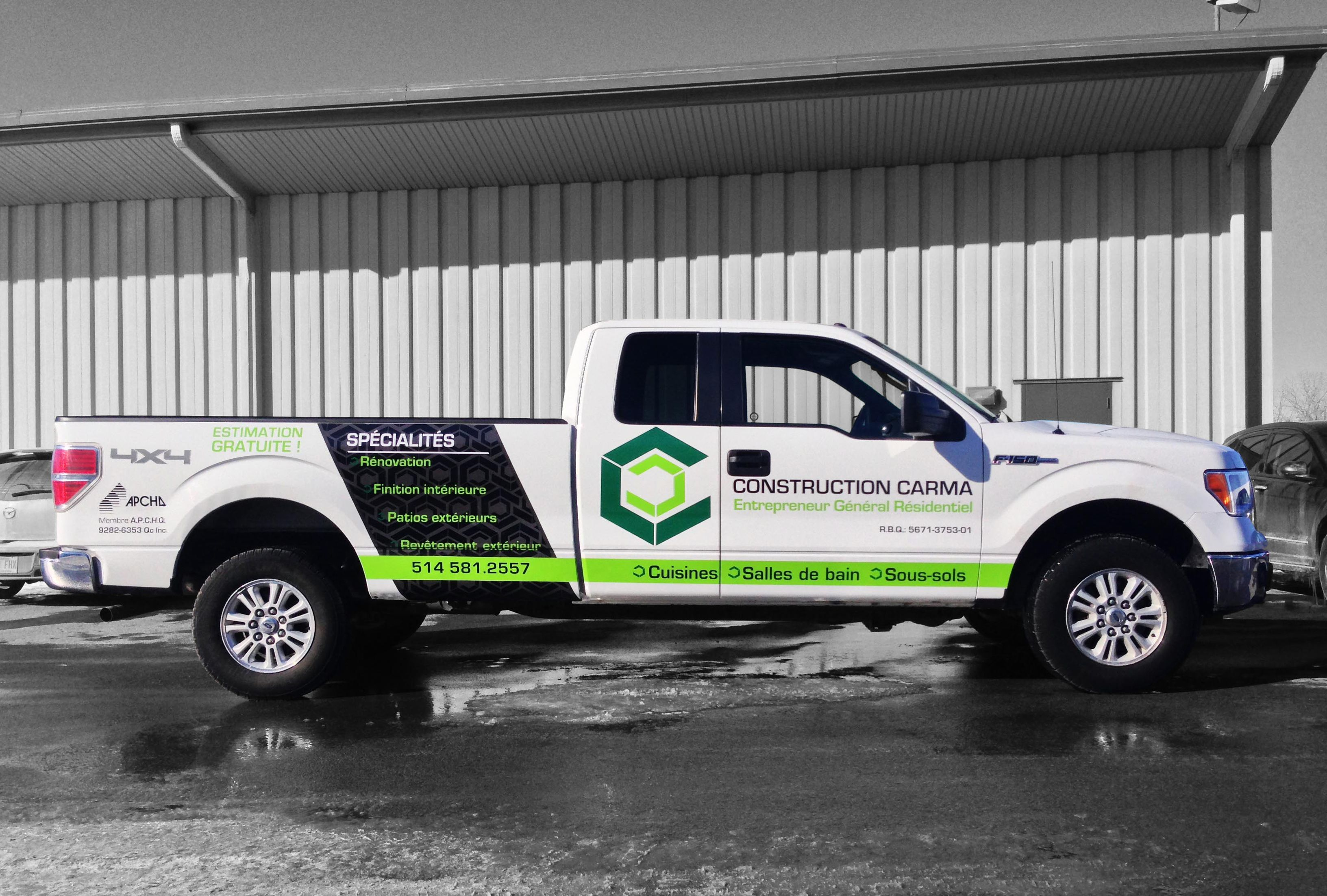 Construction Carma Wrap Partiel Truck Wraps Graphics Truck