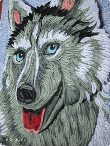Wolf Dog Quilling Animals Quilling Art Quilling