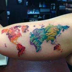 Abstract world map tattoo google search tattoo ideas pinterest abstract world map tattoo google search gumiabroncs Choice Image